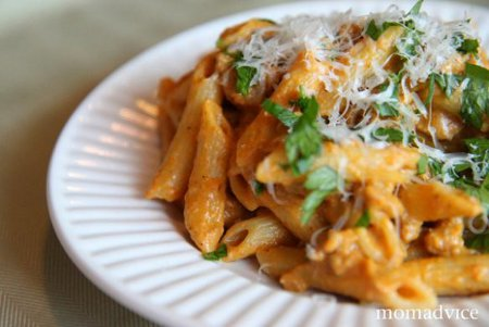 Penne with pumpkin