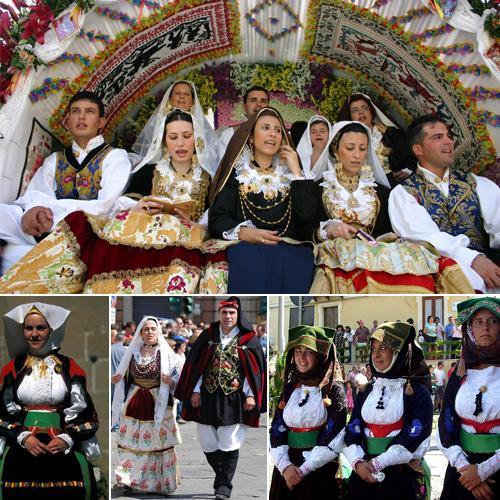 collage costumi sardi - Wedding Tradition Origins