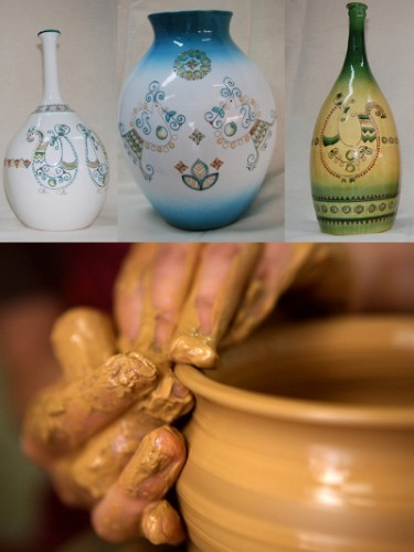 delicate pottery