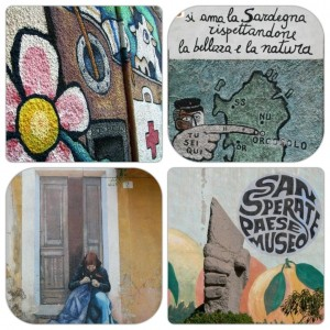 Some of Sardinia's 'murales'