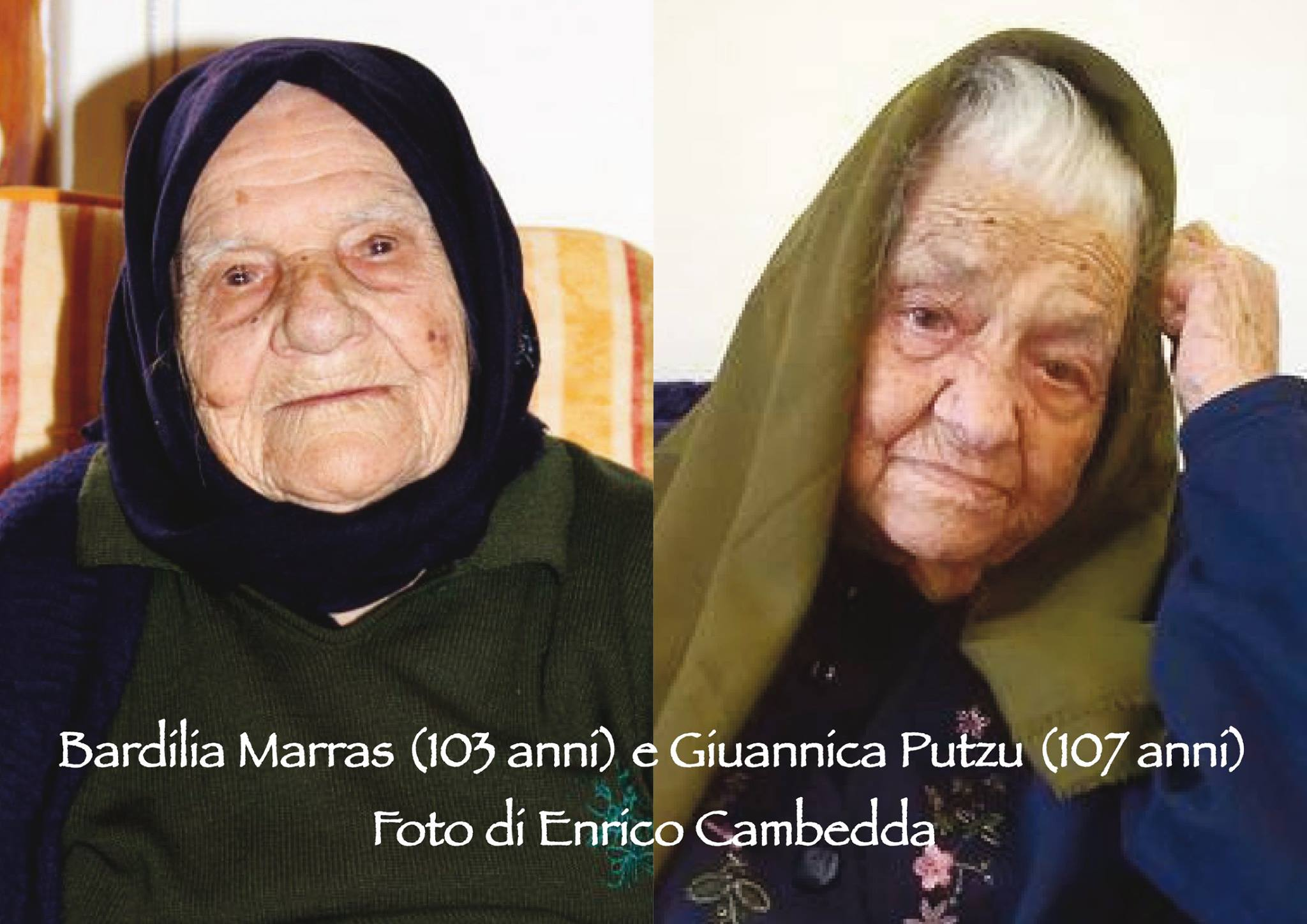 Centenarians in Teulada - photo Enrico Cambedda