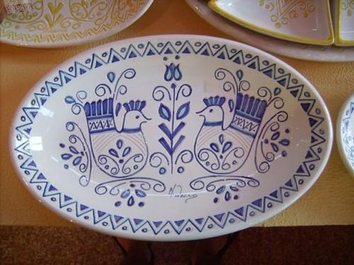 Piatto in Ceramica tipico Sardo