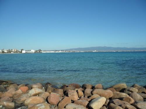 Spiaggia del Poetto vista da Marina Piccola
