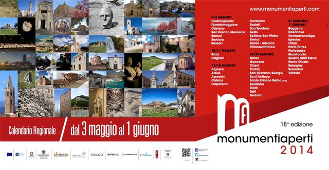 La locandina di Monumenti aperti 2014