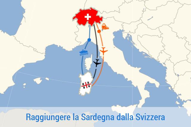 Mappa Sardegna - Svizzera