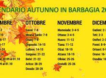 Calendario Autunno in Barbagia 2017