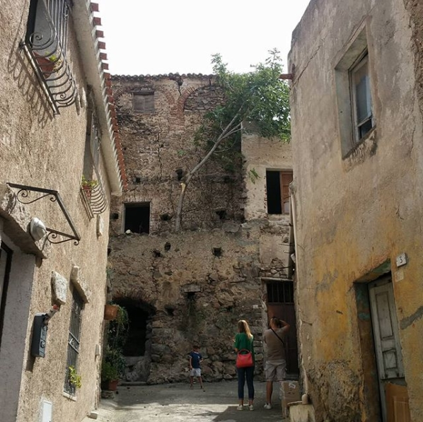 Scorcio centro storico Oliena