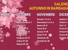 Calendario autunno in barbagia 2018