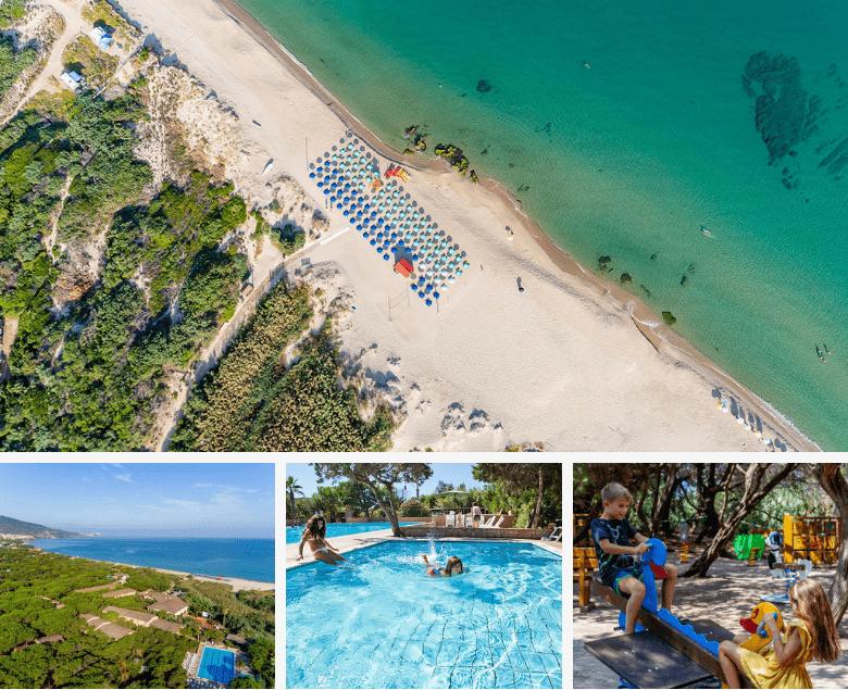 Panoramica Hotel Residence Baiaverde di Valledoria nel nord Sardegna