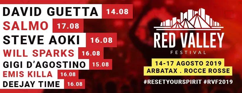 Programma Red Valley Festival 2019 Arbatax