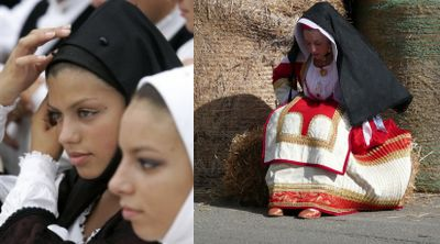 женский традиционный костюм Сардинии