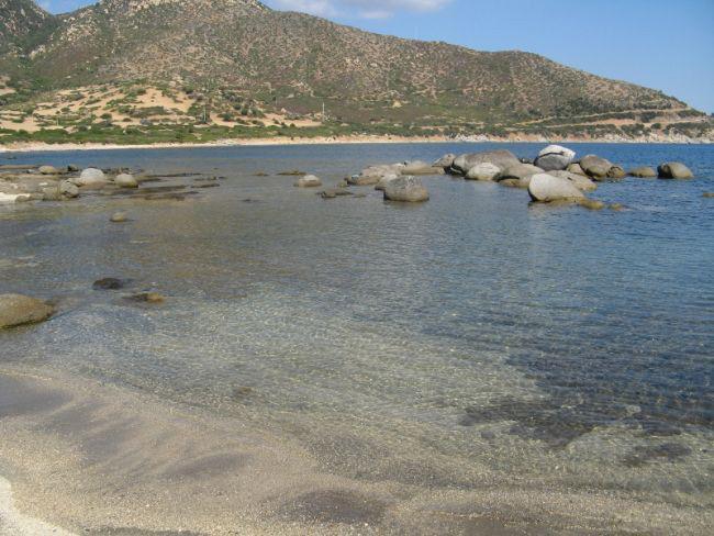 Ville a Villasimius sulla spiaggia